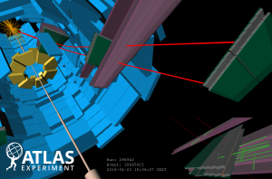 ATLAS Events at 13 TeV - First 2016 Stable Beams