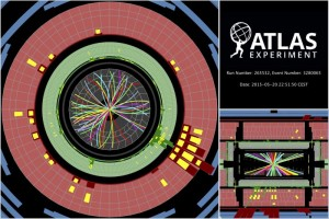 アトラス検出器での13TeV衝突の様子