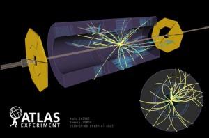 ATLAS検出器で見られた衝突イベント